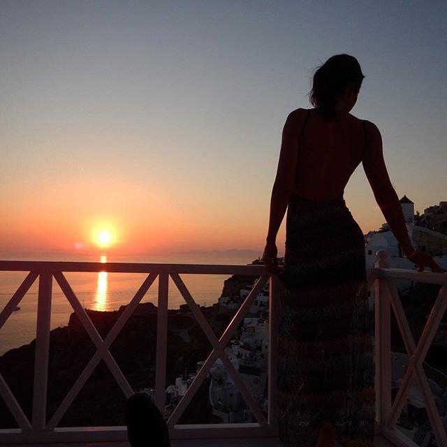The best view of the #sunset! Just in front of your balcony! #ArtMaisons #Santorini Photo credits: @lovefromkat