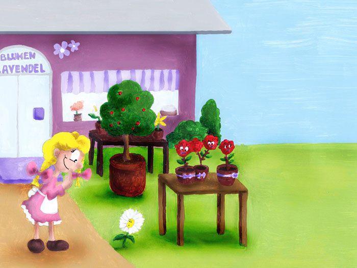 Belli und die Rosen (Illustration für Kinderbuch) mehr auf www.comicwald.de