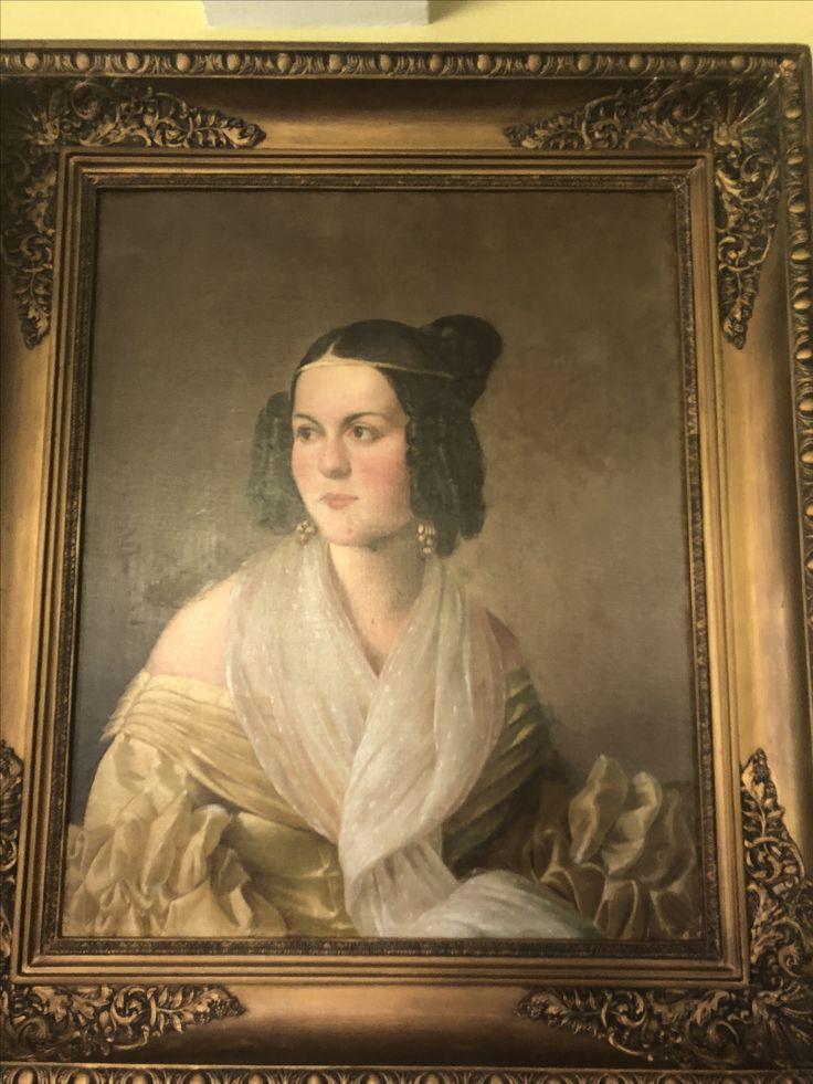 Teresa Canciani 1838,pintado en Italia para su luna de miel