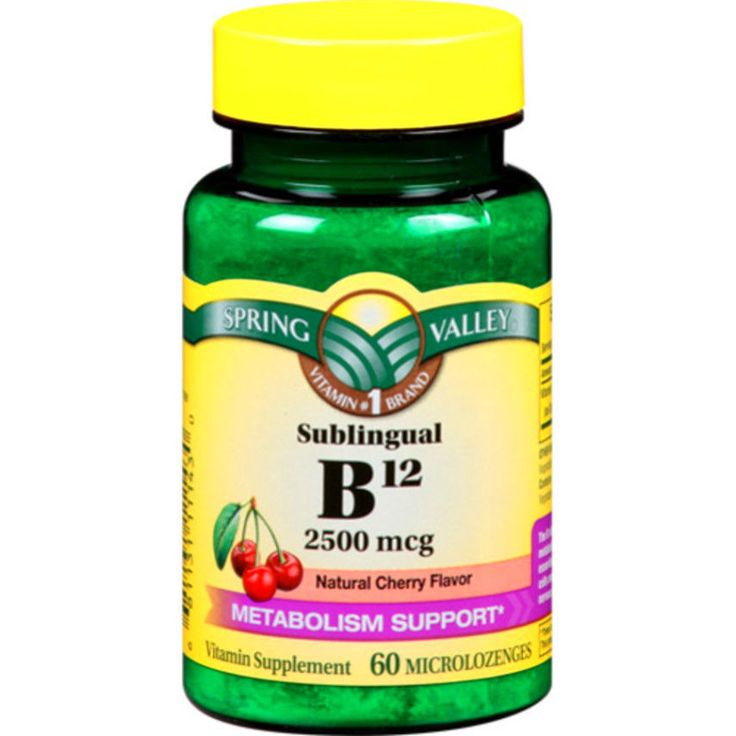 Spring Valley Sublingual B12 Microlozenges, 2500mcg, 60 count #SpringValley