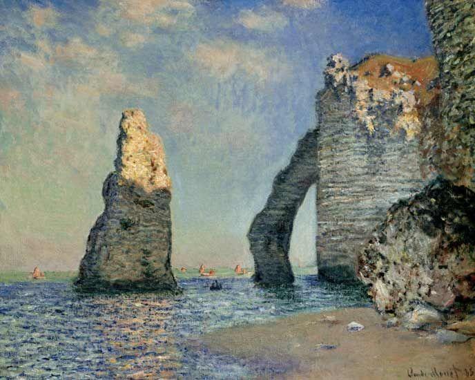 Claude Monet-Die Nadel und die Falaise d'Aval