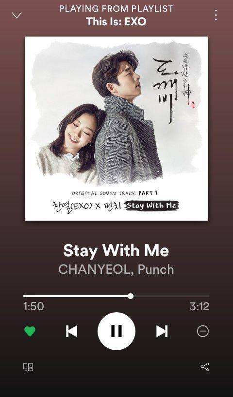 Lirik Lagu Stay With Me Ost Goblin : lirik, goblin, Stay.With.Me💜..., Chanyeol#EXO..,Punch..💜, Sahabat,, Sahabat