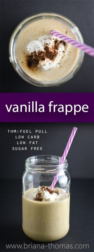 Vanilla Frappe - a healthier (and cheaper) version of Starbucks! - Trim Healthy Mama Fuel Pull - THM:FP - sugar free - low carb - low fat - low calorie - low glycemic - gluten free - egg free - dairy free - nut free