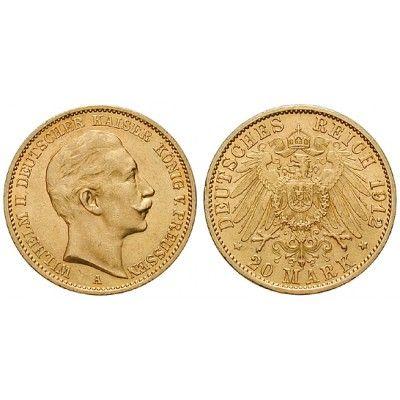 Deutsches Kaiserreich, Preussen, Wilhelm II., 20 Mark 1912, J, ss+, J. 252: Wilhelm II. 1888-1918. 20 Mark 1912 J. J. 252; GOLD,… #coins