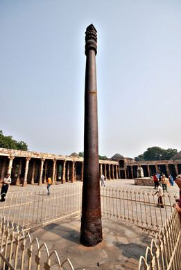 Iron pillar of Delhi – New Delhi, India | Atlas Obscura