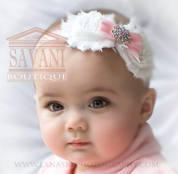 Hey, I found this really awesome Etsy listing at https://www.etsy.com/listing/162405309/pink-and-white-baby-headband-vintage
