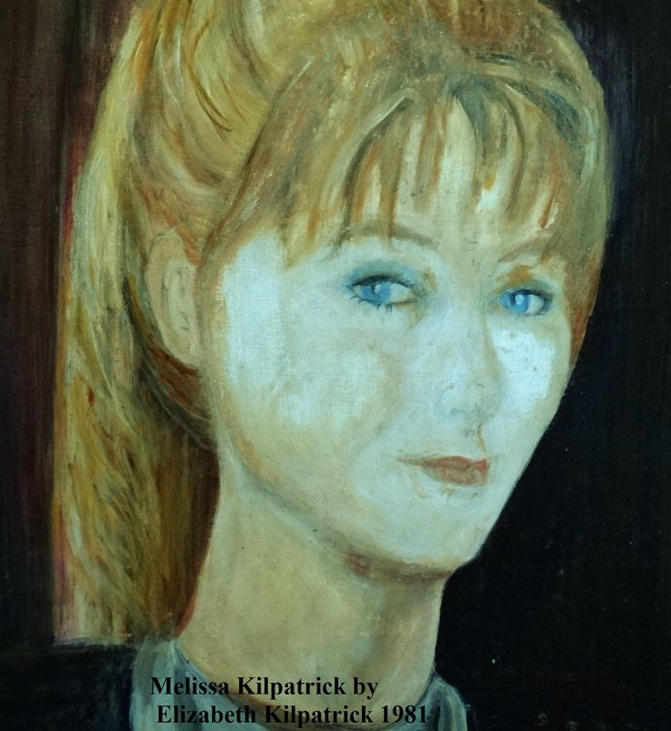 My late Daughter Melissa sat for me for this portrait at age 15. Unfortunately the oil and varnish has discoloured over the years, so I have been trying to clean it up. Otherwise it is a terrific likeness of a beautiful girl.