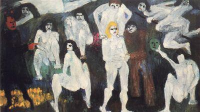 """Jan Müller, Walpurgisnacht—Faust I 1956  Oil on cnavas  68"""" x 119"""""""