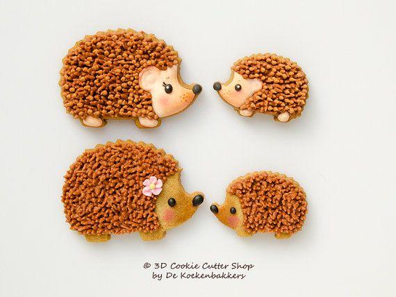 Mother & Baby Hedgehog Cookie Cutter Set by 3DCookieCutterShop