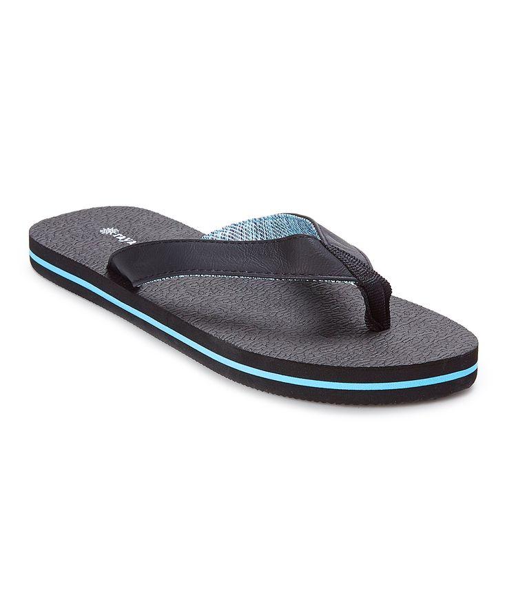 Black & Blue Flip-Flop