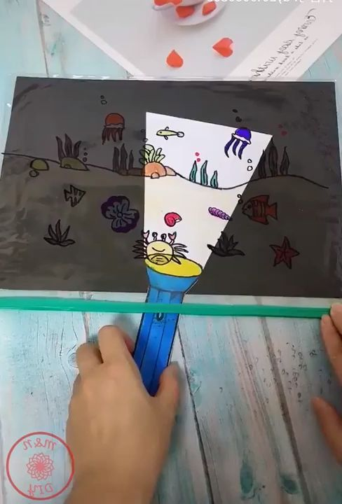 """LOVE this idea! How cute is this? Make a """"flashlight"""" for your kids to do some unique seek and find. Also allows you to customize the theme!"""