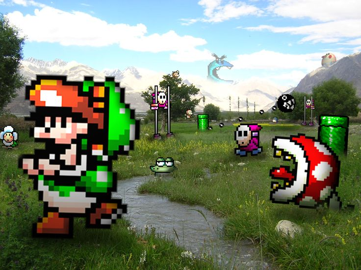 Video game characters invading real life!