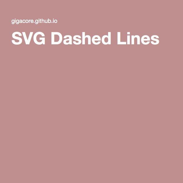 SVG Dashed Lines