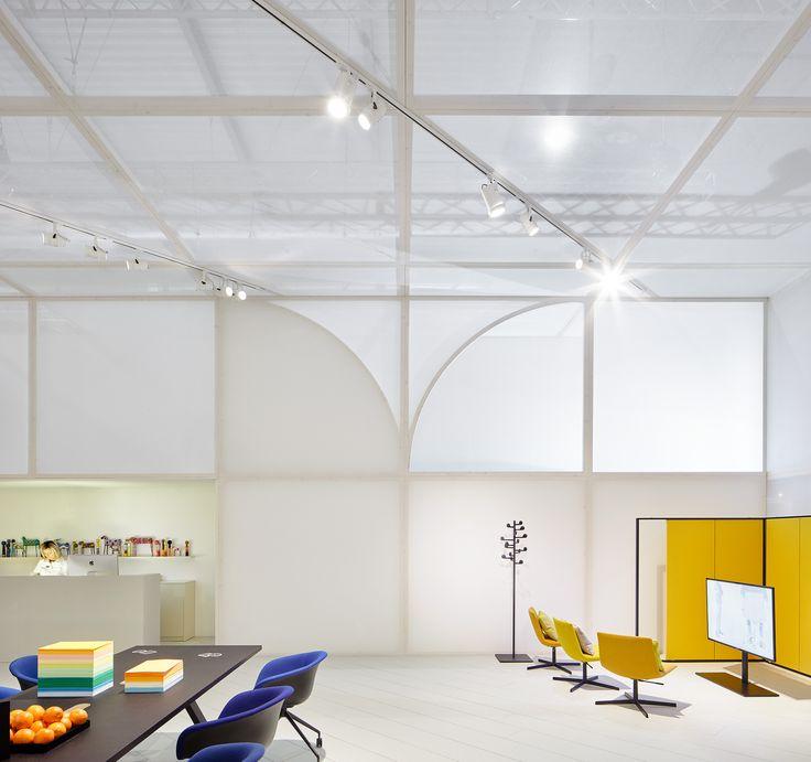 Arper's workspace booth in Milano 2017 / creative direction Studio Altherr / architecture Maio Architects / foto José Hevia