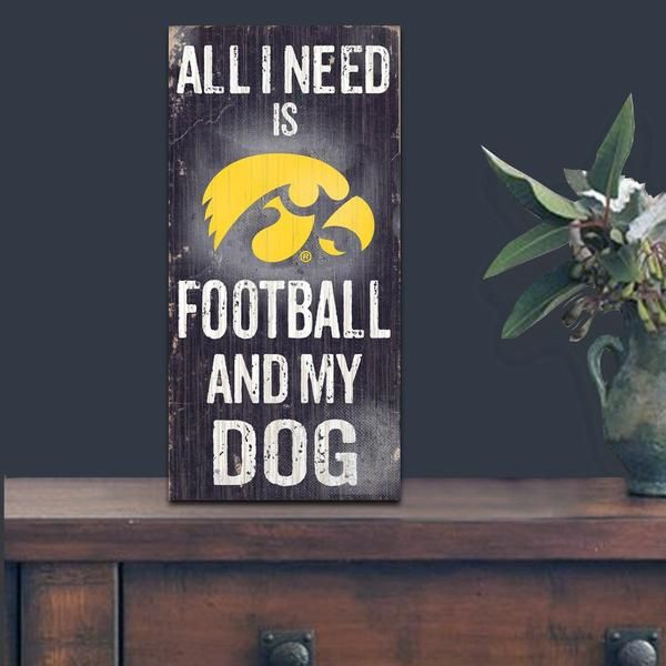 Do you love Iowa Hawkeyes Football and your Dog? Then you need this sign. This Iowa Hawkeyes sign is perfect for displaying around the house or office. It inclu