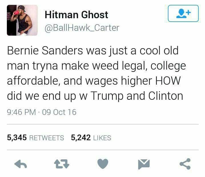 WELL MAYBE IF MORE OF YALL FUCKING VOTED IN THE PRIMARIES WE WOULDNT HAVE THIS PROBLEM