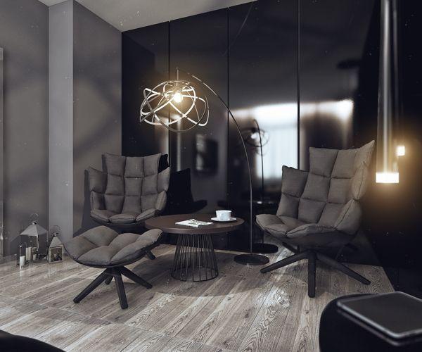 Minimalistisches Design Junggesellenbude leuchter sofa