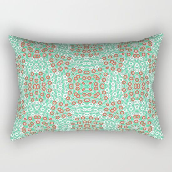 Kaleidoskope rings pattern Rectangular Pillow