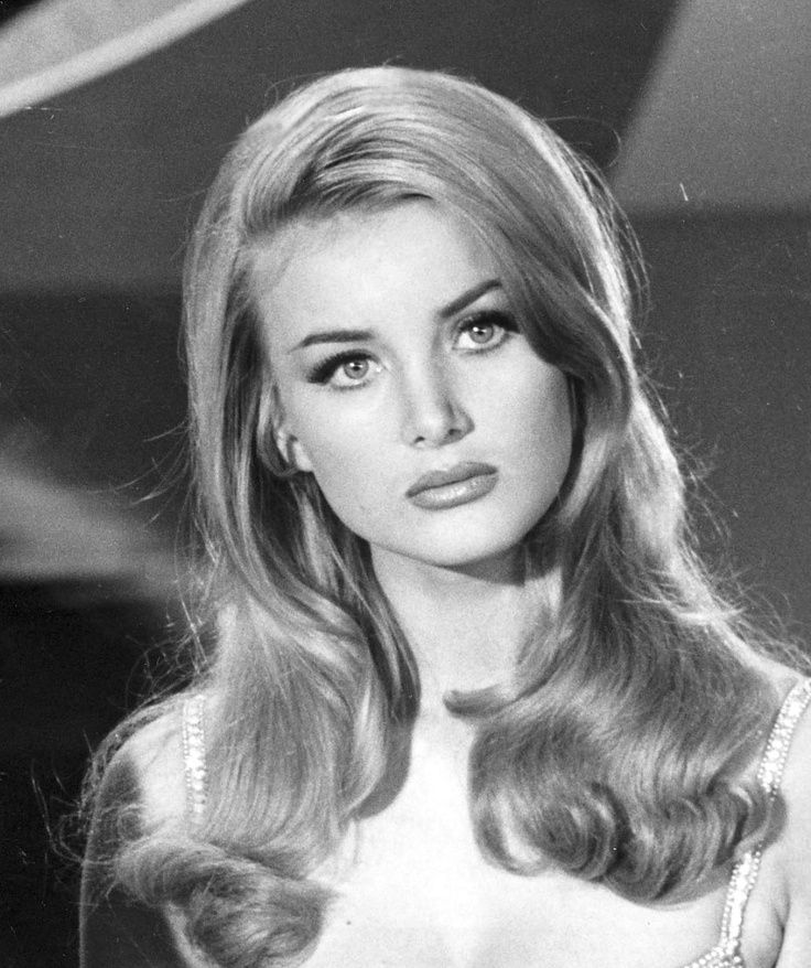 Films, You Only Live Twice & Casino Royale (1967), character, Miss Moneypenny, Barbara Bouchet, born Czech Republic (1943), age 24 in year of films' releases.