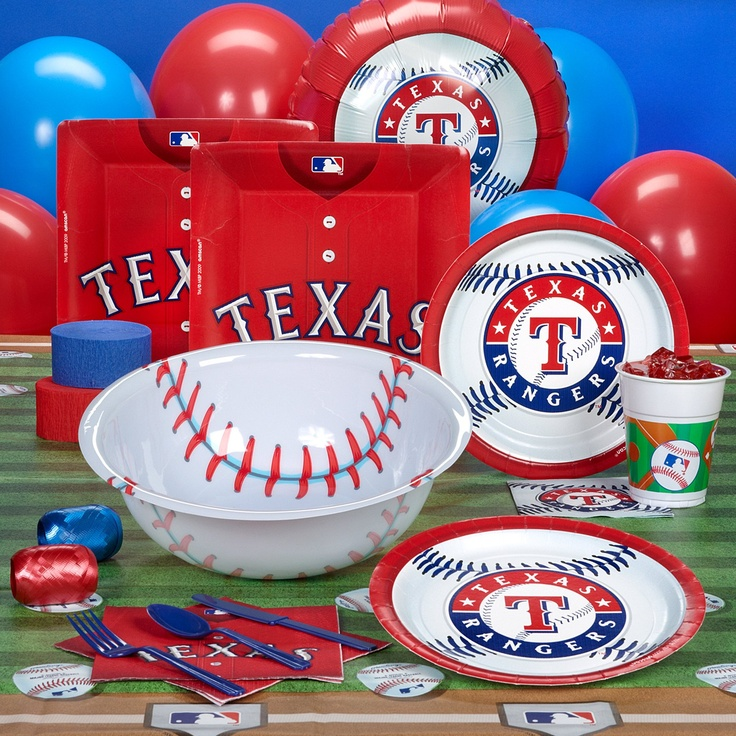 Texas Rangers Baseball Party Supplies
