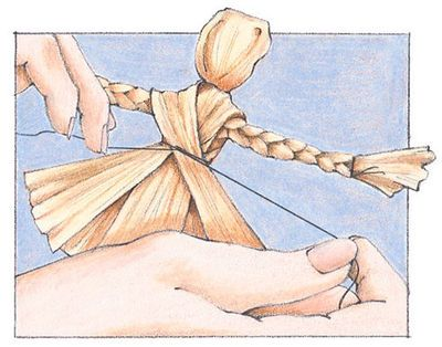 "How to make a cornhusk doll from The Old Farmer's Almanac.   for ""Playing the past"""