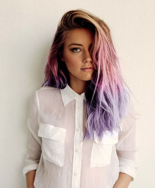 Beautiful Pastel Pink and Purple Hair Ombre