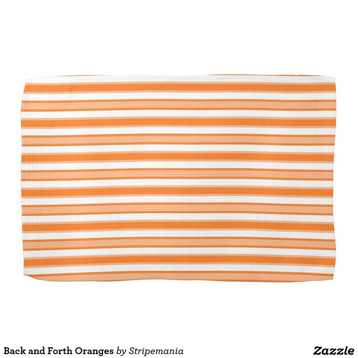 Back and Forth Oranges Hand Towels