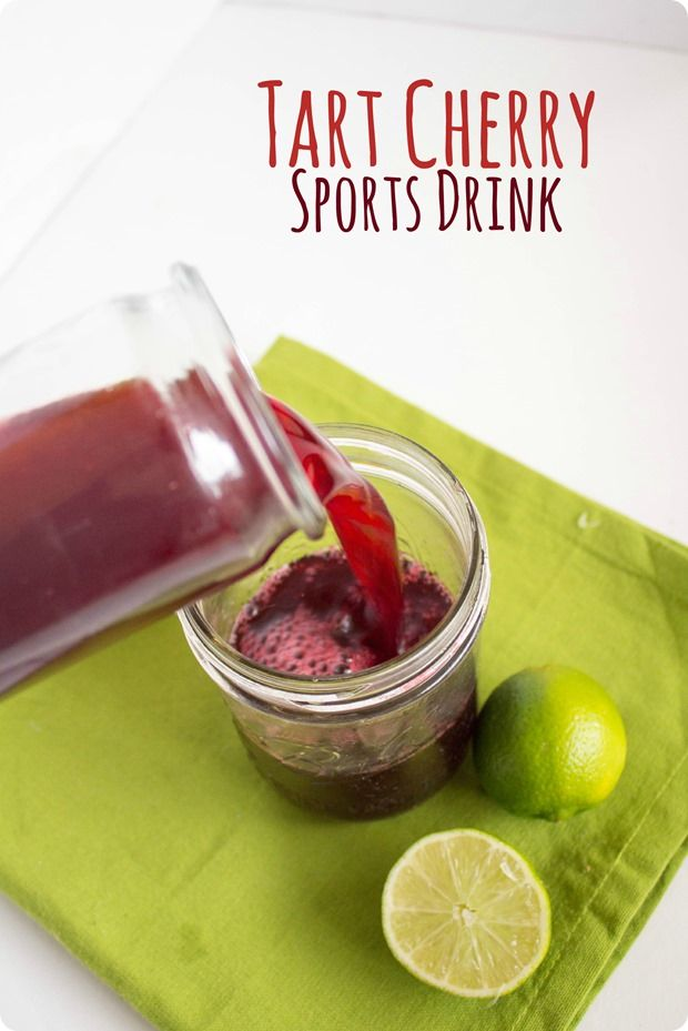 Tart Cherry Sports Drink recipe -- rehydrate and refuel with an added inflammation-busting punch from the tart cherry juice!  sponsored by @choosecherries #GoTart  from @fannetasticfood