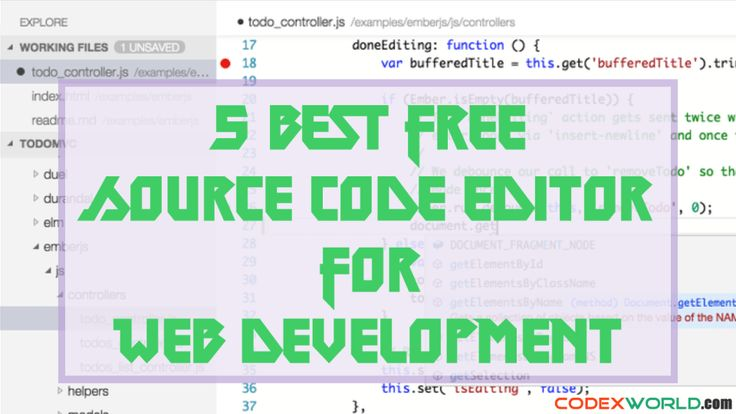 est Free Text Editor for Web Development - List of the top 5 best source code editor for programming and web development.