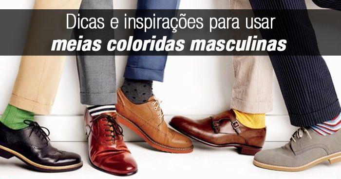 As meias coloridas masculinas ganharam o mundo da moda nos últimos anos e conquistou mais destaque com a moda de calça mais curta. Veja dicas pra usar.