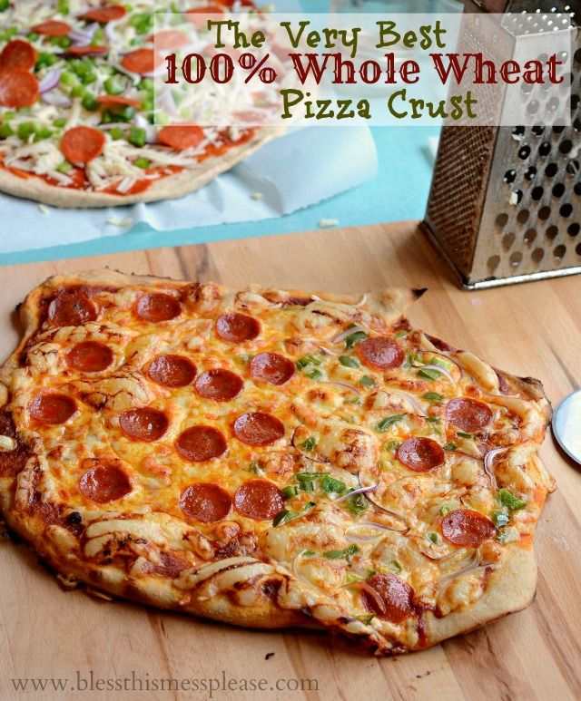 100% Whole Wheat Pizza Crust - plus tips on making pizza more healthy in general! SUCH a good crust and the baking method is pretty cool.