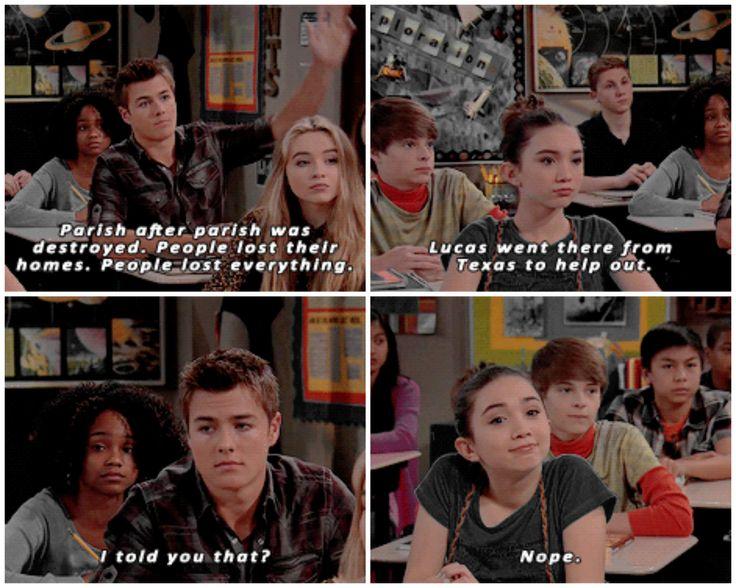 "#GirlMeetsWorld 2x08 ""Girl Meets Hurricane"" - Riley and Lucas"