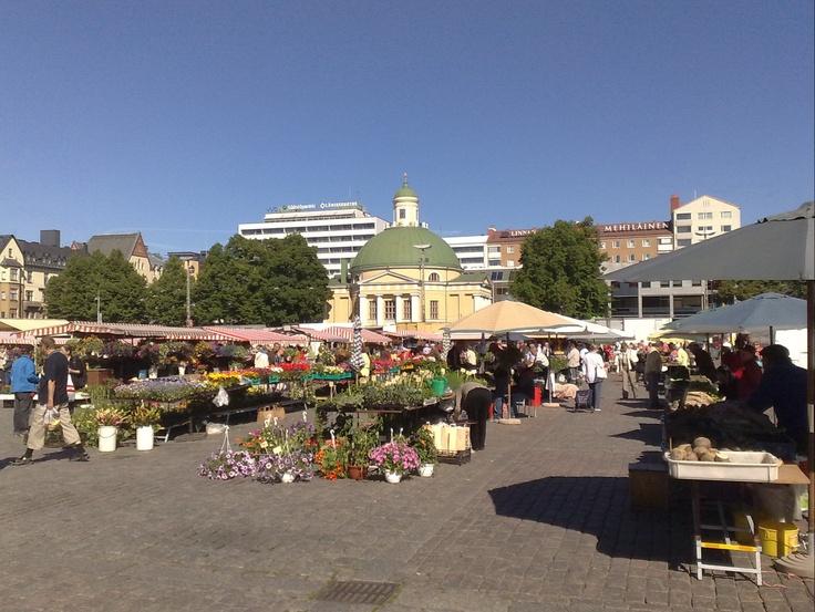 Turku Main square. Kauppatori.
