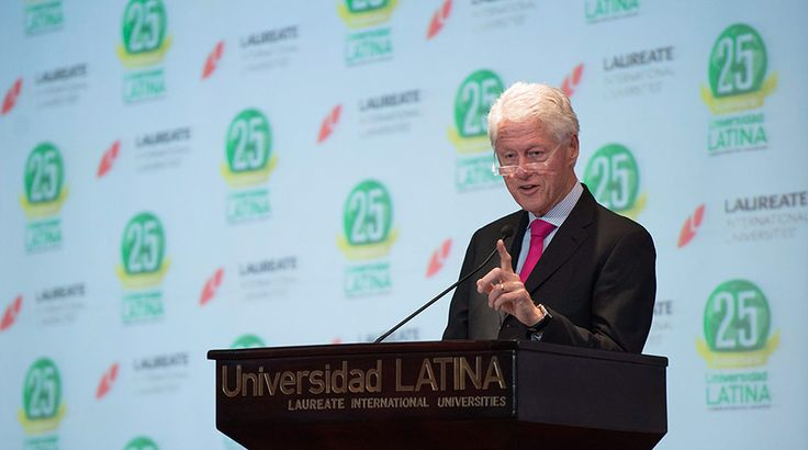 <p>Former President Bill Clinton speaks to students at Laureate's Universidad Latina in Costa Rica.</p>