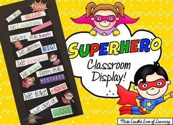 Superhero Bulletin Board Classroom Display!
