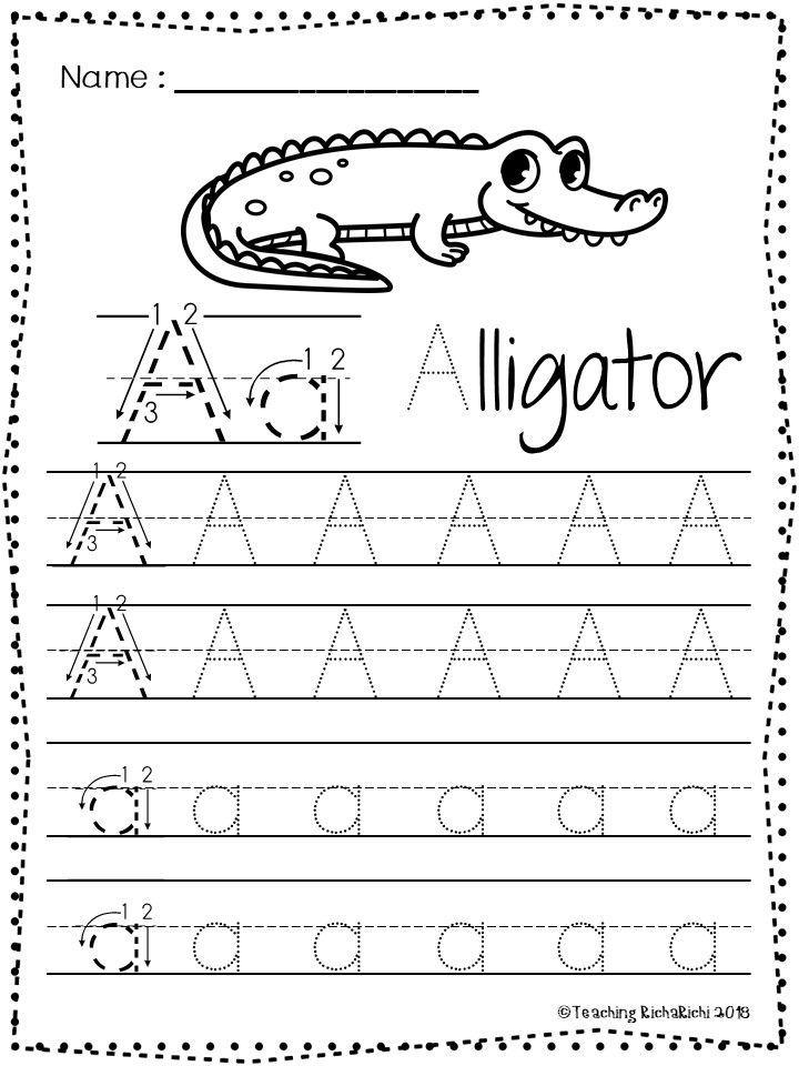 Free Abc Tracing Worksheets Alphabet A Z Upper And Lower Case 01 Pendidikan Tracing letters worksheet az