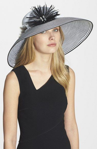 August Hat 'Extra' Wide Brim Hat available at #Nordstrom Little bit more understated than the other two pinned from Etsy, but a bit more flare than the ones from Brooks Brothers. Great option!