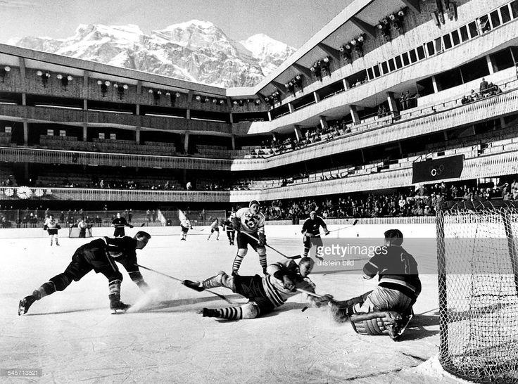 Eishockey Deutschland vs Canada OS 1956