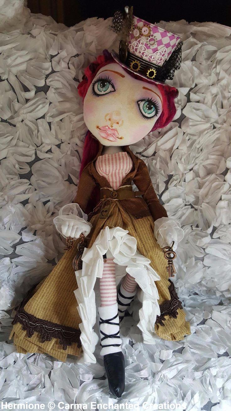 Hermione . Steampunk Traveller  By Carma Enchanted dolls