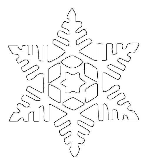 Schneeflocken und Sterne: Schneeflocke 17 zum Ausmalen ...