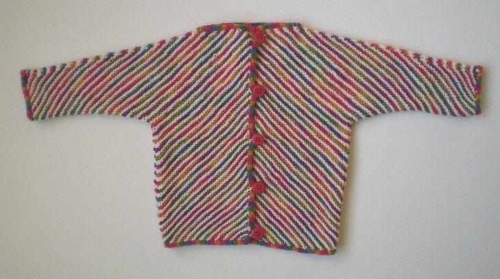 """Børnejakke. Børneudgave af den kendte """"Kite Jacket"""". Den er let at strikke og er kun i 2 stykker."""