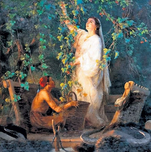 В центре картины «Сбор фруктов в Крыму» (1875 г.)...