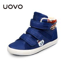 UOVO 2017 Brand Boys Shoes Winter Children Shoes,Warm Kids Casual Shoes Fashion Big Kids Sneakers For Boys(China (Mainland))