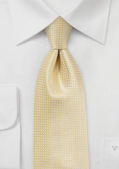 Krawatte Hellgelb Struktur