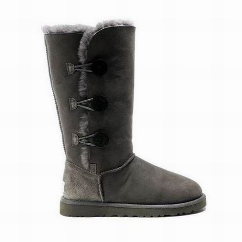 UGG Bailey Button Triplet Boots 1873 Grey $92.99