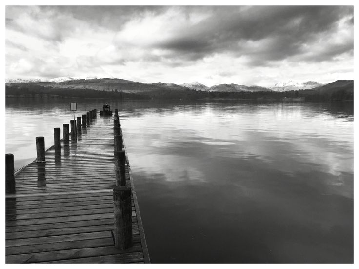 Wooden path. Windermere. Lake District