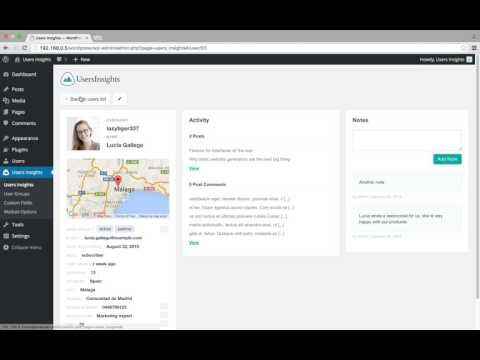 How to add notes to WordPress users - YouTube