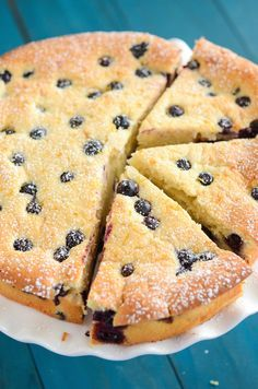 Blueberry and Lemon Sour Cream Cake! #Recipe