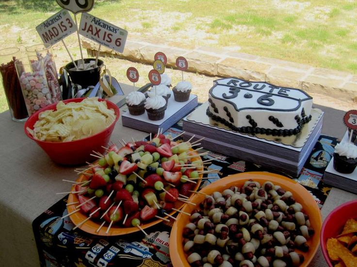 Route 66 Birthday Party Ideas | Photo 1 of 24