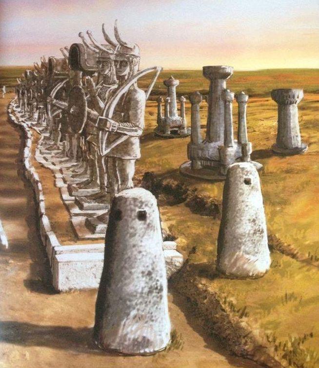 Ricostruzione ideale dell'Heroon di Monte Prama